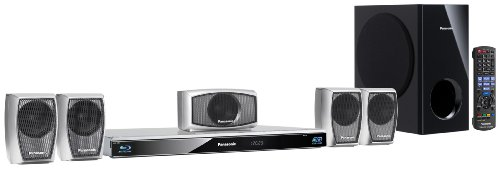 Panasonic SC-BTT270EGS 5.1 3D-Blu-ray Heimkinosystem (WLAN-ready, digitale iPod/iPhone Dock, SDXC, 2 x USB, 1000 Watt) silber