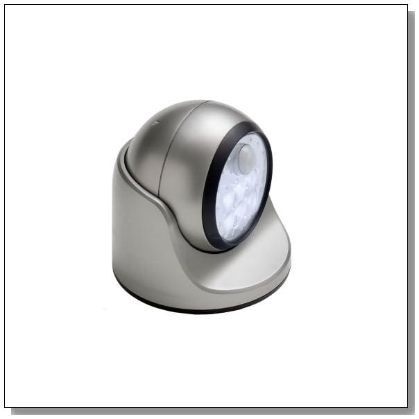 Fulcrum 20031-101 Motion Sensor LED Porch Light, Silver