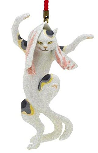 歌川国芳根付 「見立東海道五拾三次岡部 猫石の由来」踊る猫又