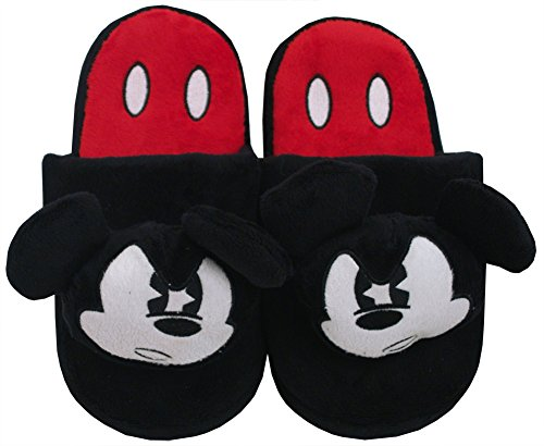 CONCEPT ONE ANGRY MICKEY MOUSE HEAD PLUSH SLIPPERS (SMALL)