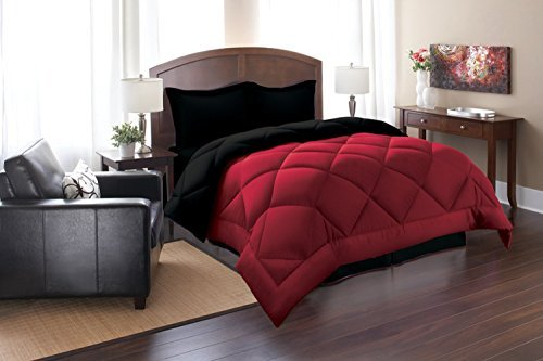 Elegant Comfort Goose Down Alternative Reversible 2pc Comforter Set, Twin