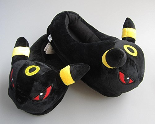Pokemon Umbreon Anime Cartoon Plush Indoor Bedroom Winter Warm Slipper 11