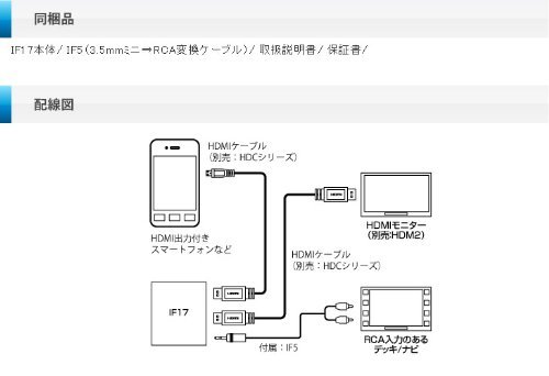 ビートソニック (Beat-Sonic) インターフェースアダプター HDMI / RCA音声分岐変換 IF17