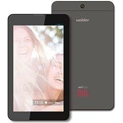 """Wolder D01TB0227 - Tablet de 7"""" (Quad Core A33 1.3GHXZ, 1 GB de RAM, 8 GB, ANDROID 5) - teclado QWERTY español"""