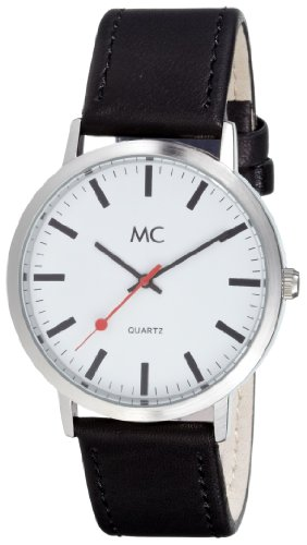 MC Herrenarmbanduhr Lederband 26153
