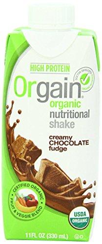 Orgain Creamy Chocolate Fudge, 11-oz. Container (Creamy Chocolate Fudge, Count of 24)
