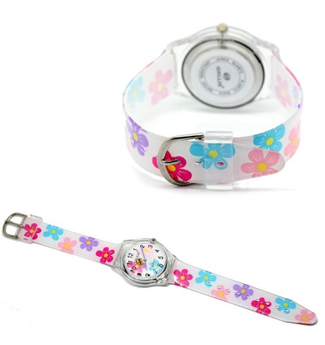 0aafd78c7 My daughter lost her watch – again – so browsing Amazon I found this cute  Zeiger Kids  KW009 Analog Display for Easy Read Time Teacher Young Girls  Children ...