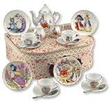 Beatrix Potter Tea Set Peter Rabbit & Friends By Reutter Porcelain - Medium