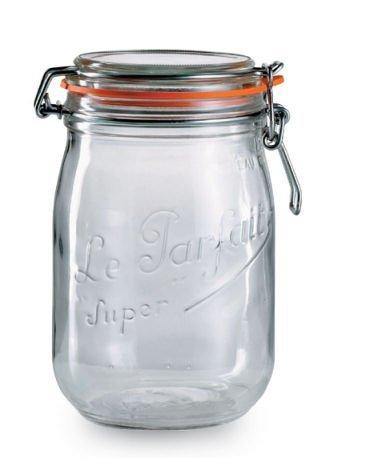 Le Parfait Traditional Bellied Jar 1l / 11 x 17.5cm, Kitchen Storage Jars and Containers Range