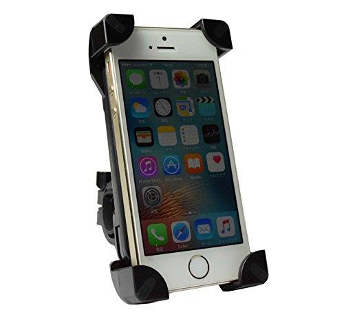 G-Parts バイク自転車 携帯ホルダー スタンド スマホ固定 GPSナビ 360度回転 脱落防止構造 iPhone6S アイフォン5S 5 Galaxy S7 edge ギャラクシー GP1026