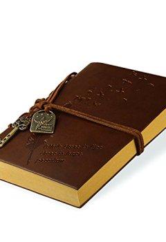 Livres Couvertures de Foonii New Vintage Magique Key String Notebook Journal Blank Agenda Jotter Cahier Corde Vintage Intimate Diary (Café)