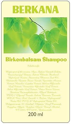 Berkana, Haarwuchsmittel pflanzlich, gegen juckende Kopfhaut, Birkenbalsamshampoo
