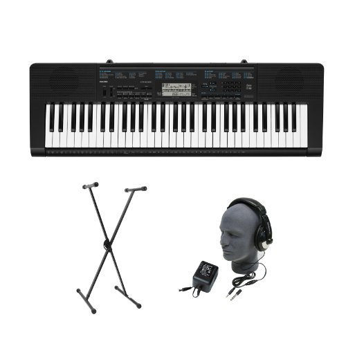 Casio CTK-2300 61-Key Premium Portable Keyboard Package with Headphones, Stand and Power Supply