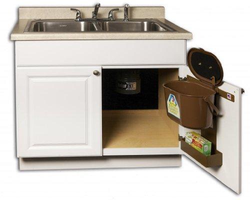storage organization kitchen compost caddy under sink mounted compost system by kitchen compost caddy home chefschoice nz