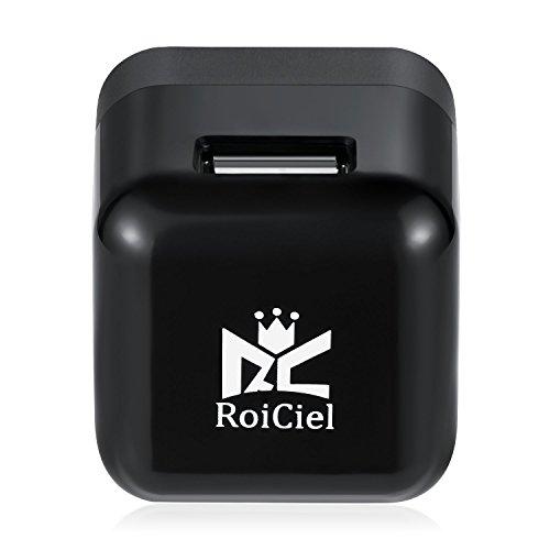 RoiCiel 5W出力1.0AUSB急速充電器 cube型ACアダプタ 折りたたみ式