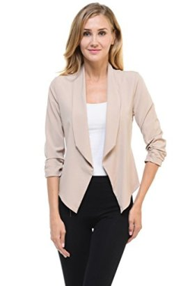 Aulin-Collection-Womens-Casual-Lightweight-34-Sleeve-Fitted-Open-Blazer
