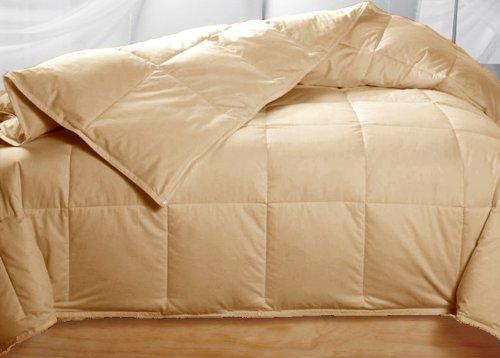 50 golden beige colored feather down comforter queen size mechantfr3100