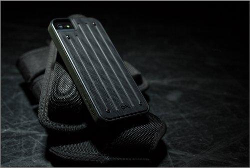 【Garolite G-10素材採用】 Case-Mate 日本正規品 iPhone5s / 5 Caliber Case, Black / Black キャリバー ケース ブラック / ブラック CM029391 [GENUINE G10 BALLISTIC COMPOSITE]