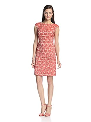Paperwhite Women's Bateau Neck Dress (Terra Cotta)