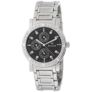 Bulova Men's 96E04 Diamond Multifunction Watch