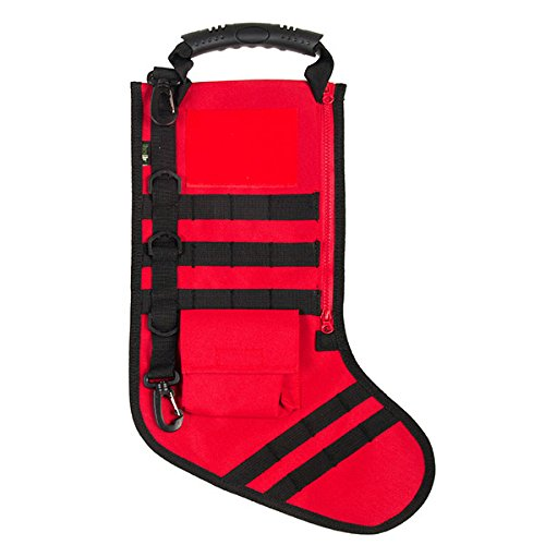 Tactical Christmas Stocking with Molle Gear in Red