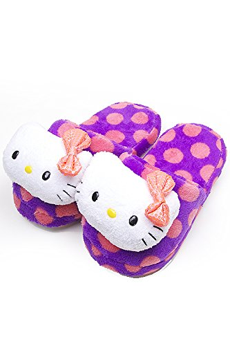 Hello Kitty Licensed Purple Polka Dot Kitty Face Sequence Ribbon (M (7-8))