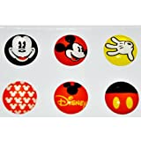 niceEshop(TM) 6-in-1 Pack Mickey Mouse Soft Home Button Stickers For Apple iPhone/iPod/iPad