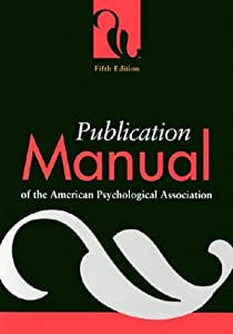 "Cover of ""Publication Manual of the Ameri..."