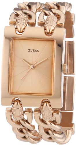 s trendy rose gold-tone double-chain bracelet watch,guess w0073l2 women,video review,(VIDEO Review) GUESS W0073L2 Women's Trendy Rose Gold-Tone Double-Chain Bracelet Watch,