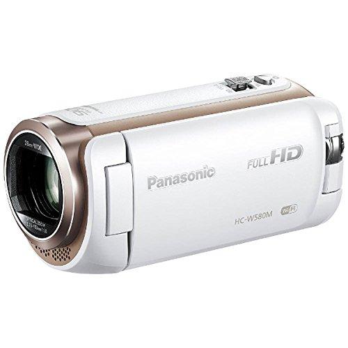 パナソニック デジタルハイビジョンビデオカメラ W580M 32GB ワイプ撮り 高倍率90倍ズーム ホワイト HC-W580M-W