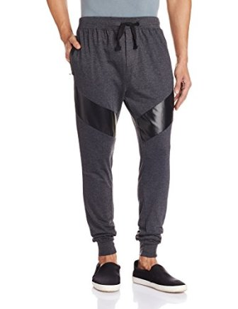 Body Tantrum Men's Track Pants (BTBPCB_32W x 31L_Charcoal Black)