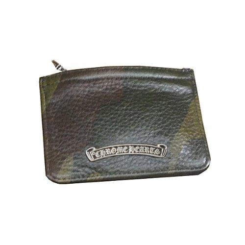 [クロムハーツ] ファスナー付 レザー コインケース ダガージップ 迷彩 / CHROME HEARTS dagger coin purse [並行輸入品]