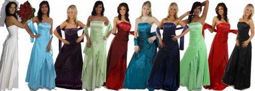 2007 Abendkleid lang, schulterfrei