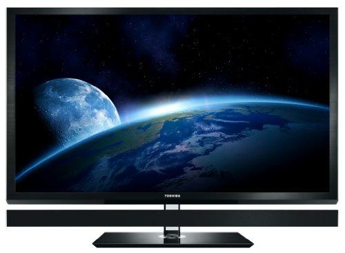 Toshiba Cevo 55ZL1G 140 cm (55 Zoll) 3D LED-Backlight-Fernseher, Energieeffizienzklasse C (Full-HD, 200Hz, DVB-T/-C/-S,  CI+) schwarz