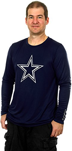 NFL Dallas Cowboys Men's Lamar Long Sleeve Performance T-Shirt (2X)