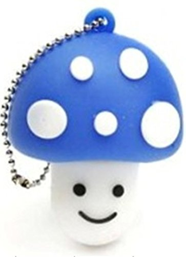 Wish Inc. 32GB Novelty Cute Cartoon Blue Mushroom USB 3.0 Flash Pen Drive Memory Stick Gift