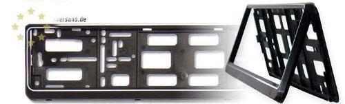 praktischer klapp Kennzeichenhalter in schwarz passend für die Kennzeichengröße 520 mm x 110 mm