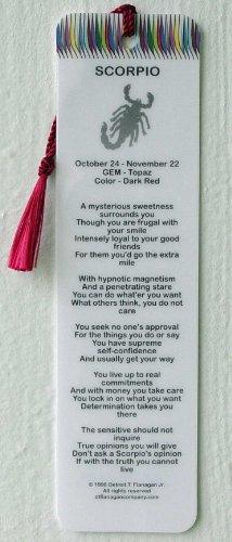 SCORPIO Sign Characteristics - Poem Bookmark