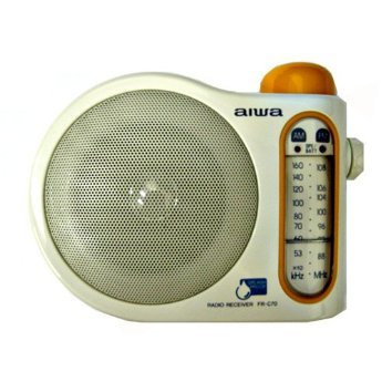 5fe7486a Aiwa FR-C70 Splash Proof Analog AM/FM Hangable Bath and Shower Radio ...
