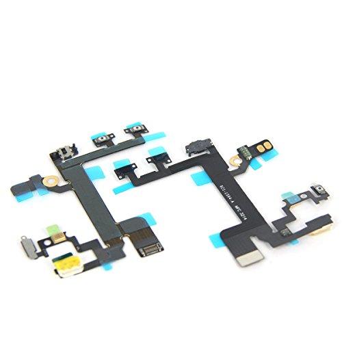 SRI SHOP iphone5s 電源スイッチ オン/オフ 音量ボタンミュートキーフラッシュ&フレックスケーブル 修理交換用 修理用パーツ