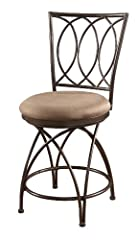 Powell Big and Tall Metal Crossed Legs Counter Stool