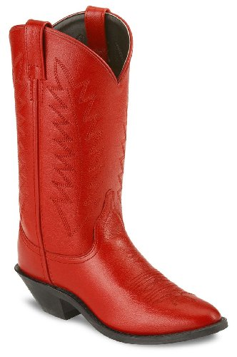 Old West Women's Corona Cowgirl Boot Medium Toe Red 8 M US
