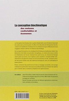 Livres Couvertures de La conception bioclimatique : Des maisons économes et confortables en neuf et en réhabilitation