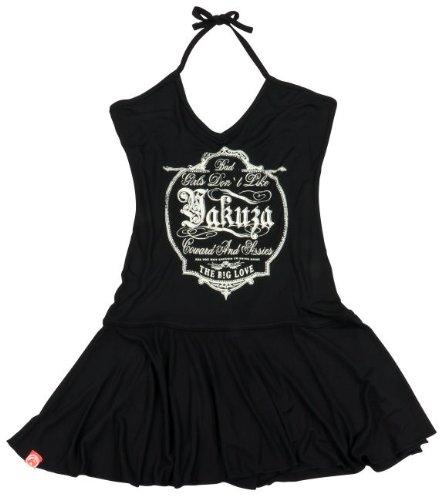 Yakuza Ink. Kleid Minikleid Rückenfrei GKL 1002 schwarz