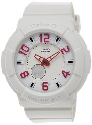 Casio-Womens-Baby-G-BGA133-7B-White-Resin-Quartz-Watch-with-White-Dial
