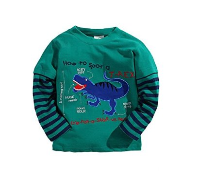 CoralupLong-Sleeve-Baby-boys-clothing-Dinosaur-T-shirts-C9092-Blackish-green3-4Y