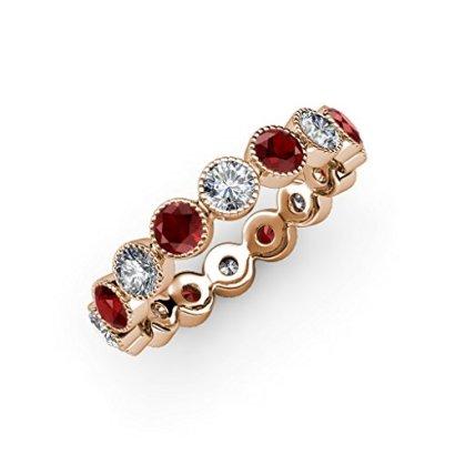 Red-Garnet-Diamond-Bezel-Milgrain-Eternity-Band-130-ct-tw-to-150-ct-tw-in-14K-Rose-Goldsize-65