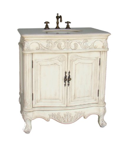 Buy 31 Antique White Fiesta Bathroom Sink Vanity Cabinet Ba 2873m Aw Black Friday Deals Black Friday Bathroom Vanity Cabinets