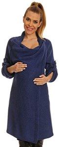 Happy-Mama-Womens-Maternity-Waterfall-Cardigan-Blazer-Knit-Coat-50-OFF-277p