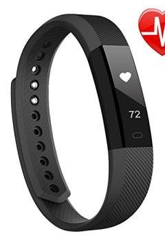 39a42d37a215e Livres Couvertures de Bracelet Cardio, LINTELEK Tracker d'Activité Smart  Bracelet Connecté, Montre